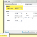 Adjusting topic width in MindManager