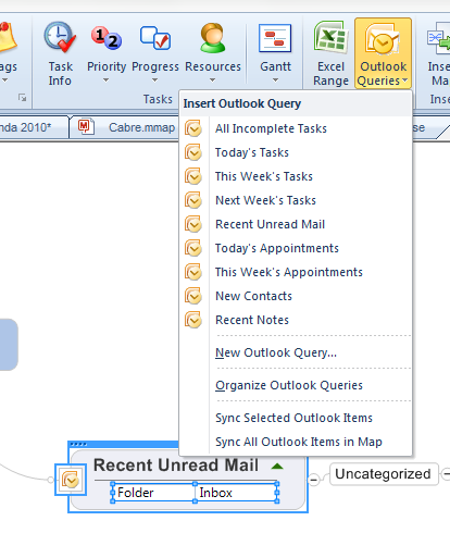 MindManager Outlook Queries