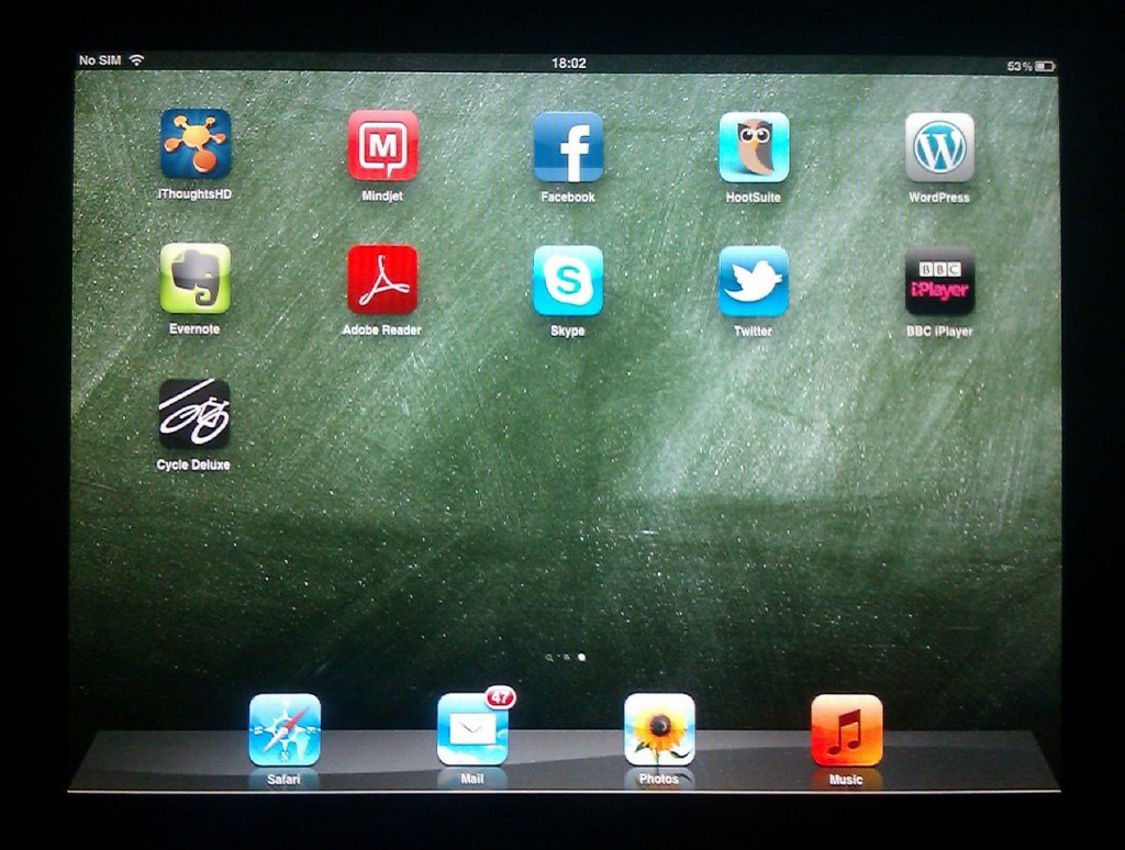 iPad Screen - The set up so far
